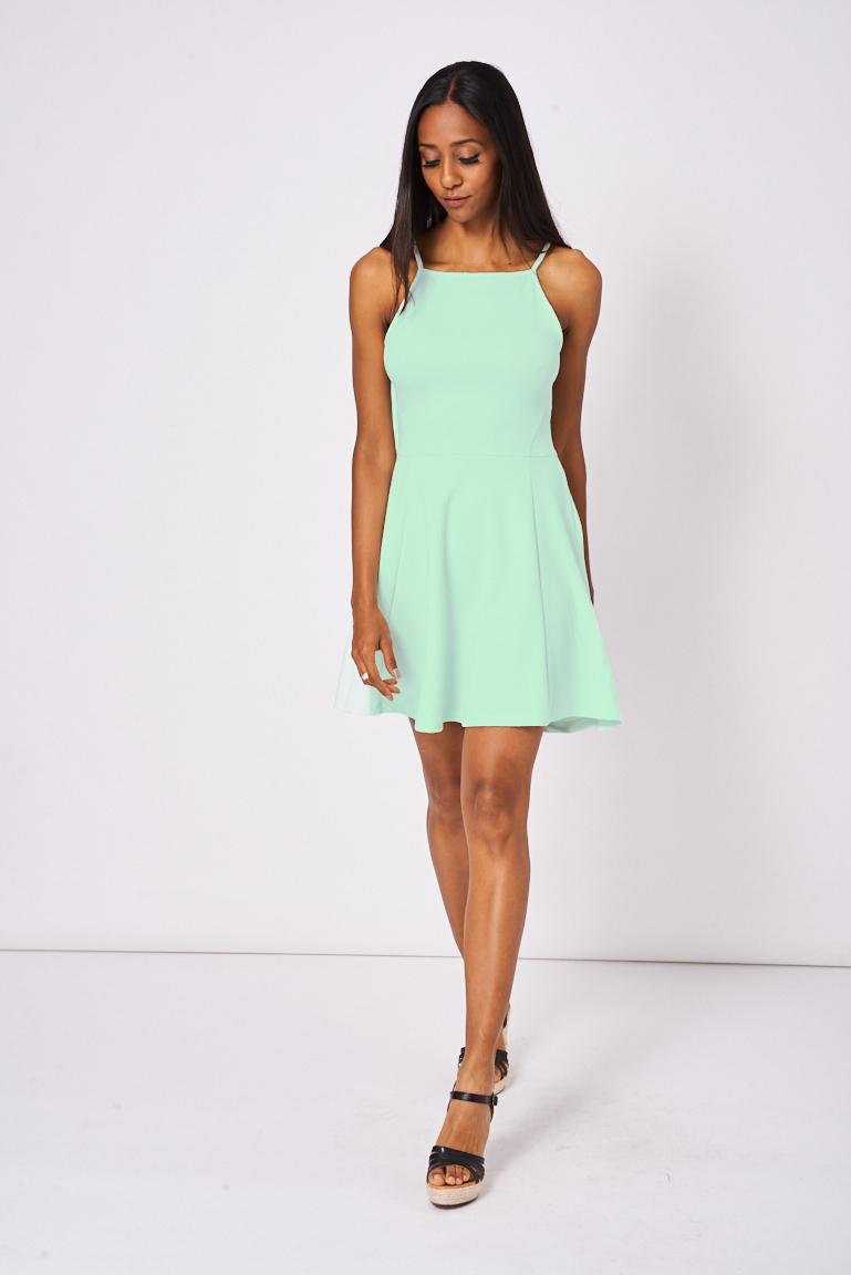 baf294bdef Light Green Skater Dress Ex-Branded